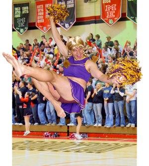 Promotional cheerleader Mark Simon. All images courtesy of Mark Simon.