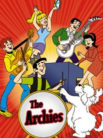 In the late 60s, as superhero cartoons came to an end, bubblegum music and Saturday morning animation became partners as in Filmations The Archie Show. © 1968 Archie C