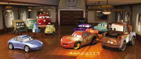 RenderMan was used to create the reflections in the car paint. The accuracy of the reflections was very important and revealed how well the cars are put together.