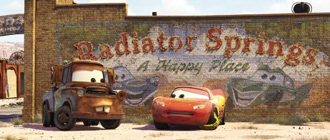 Pixar created the tool Ground Locking just for Cars. It allowed the animators to lock the wheels to the ground but give the car real suspension and bounce.