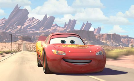 Anthropomorphism was key to the style for this film. Bill Cone, production designer, described it as cartoon realism. In this world, cars talk and the forms are whimsical.
