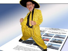 Mark Simon pimps his websites.