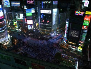 The vfx wizards on Tokyo Drift not only had to re-create Tokyo, but also the citizens in the streets as well.