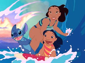 Lilo & Stitch contains effects animation that fits flawlessly into the overall picture, a result of working closely with the directors and art director. © The Walt Disney Co.