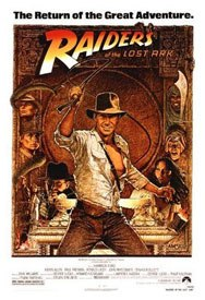 Its next to impossible to think of Raiders of the Lost Ark without recalling Richard Amsels whip-wielding portrait of Harrison Ford, but illustrations for movie posters are becoming a lost art. © Paramount Pictures.