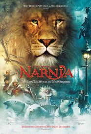 Recent films like The Chronicles of Narnia: The Lion, the Witch and the Wardrobe continue to use the classic action poster template where images from the film surround the heros portrait. © Disney Enterprises.