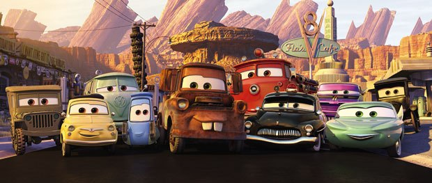 At the Cars panel, animator Travis Hathaway stated that the focus on the film was on character and story and how director John Lasseter wanted the cars to remain cars. © Disney/Pixar. All rights reserved.