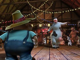 Barnyard used motion capture as a tool to populate scenes. For crowd scenes, actors were filmed at the studios own custom-built performance-capture stage and a Vicon system was used.