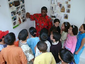 Congolese director Jean Michel Kibushi managed a childrens workshop at The French Institute.