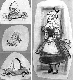 Forget rabbit holes, Alice and the White Rabbit are driving to wonderland in this Hudson car commercial. All images © Walt Disney Co.