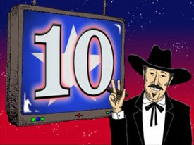 Singer turned candidate for Governor of Texas Kinky Friedman use music videos on his campaign website to get out his message. © 2005 kinkyfriedman.com.