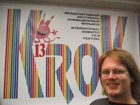 German animator Alexander Isert is happy to be at KROK. All images courtesy of Nancy Denney-Phelps.