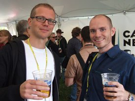 Jonas Odell, creator of Never Like the First Time, and Ian Gouldstone, creator of Guy101.