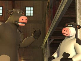 Nickelodeon is planning an upcoming CG show based on Steve Oedekerks feature film Barnyard (above). © 2006 by Paramount Pictures and Viacom Intl Inc. All rights reserved.