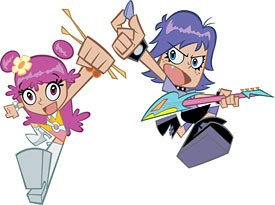 Renegade Prods. dabbled a bit with Flash on special projects for Disney, but went full bore when it began production on the recent Hi Hi Puffy AmiYumi series. © &  2004 Cartoon Network.