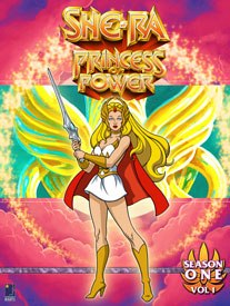 She-Ra was developed when Mattel came to Scheimer asking for a girl character a year after the debut of He-Man. He developed her as a sister He-Man didnt know existed. Season 1 of She-Ra has been released on DVD.