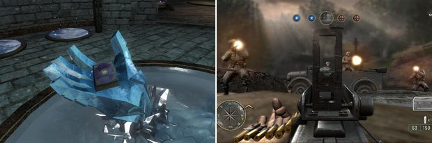 Call of Duty 3 (right) and The Elder Scrolls IV: Oblivion have been overhauled to take account of the hardwares greater processing power. © Activision (right) and © 2K Games.