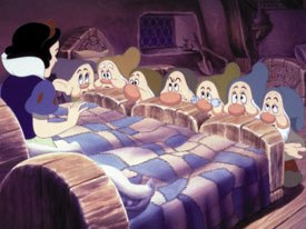 Don Graham, Walt Disney's chief instructor, urged his artists to study live-action film as a frame of reference for animated movement, which resulted in Snow White and the Seven Dwarfs (1937). © Disney.
