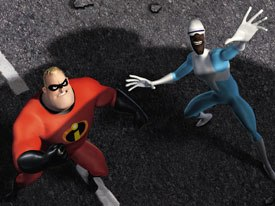 CGI humans are outnumbered by their furry counterparts. The Incredibles runs counter to Hollywood's animal pack. © 2004 Disney Enterprises Inc./Pixar Animation Studios. All rights reserved.
