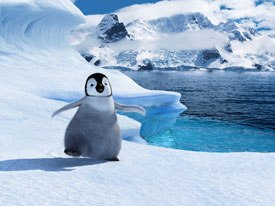 Performance was key in Happy Feet, built around Mumbles tap dancing. Animal Logic created its own Creative Hub. © 2006 Warner Bros. Ent. Inc. All rights reserved.