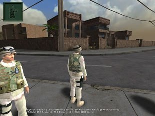 After completing the arcade, players enter the Mission Game, the actual 3D scenario that takes place on the mean streets of Iraq.