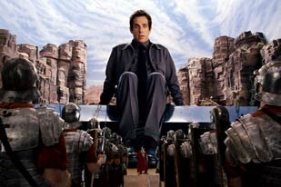 VFX artists transport actor Ben Stiller into the action of the Diaramas. Image courtesy of Rhythm & Hues.