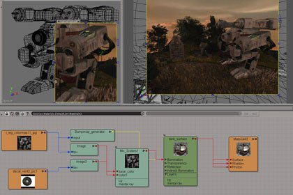 The Render Region tool has been significantly enhanced. Image courtesy of Softimage Co. and Avid Technology Inc.