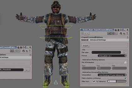 Transfer your data from XSI to 3ds Max or Maya using Crosswalk. Images courtesy of Softimage Co. and Avid Technology Inc.