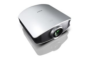 Sony showed of its front projection TV, the VPL-VW50 1080p projector, which is relatively inexpensive (for Sony) at under $5,000 street price. Courtesy of Sony.