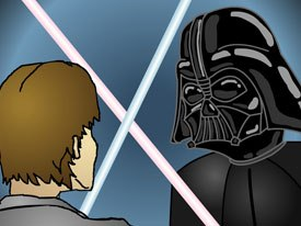 The AtomFilms site has hosted several competitions, including an annual Star Wars film contest, which attracts both live and animated work. Star Wars Gangster Rap has been seen millions of times. Courtesy of AtomFilms.