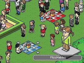 Like Habbo, online worlds are becoming massive. © Sulake.