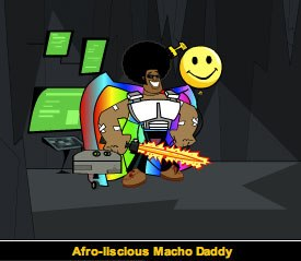Afro-liscious Funk Daddy is only one of the characters inside the Urbaniacs world. © Urbaniacs.