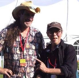 Joseph Gilland (left) with Ryan Larkin. Courtesy of Joseph Gilland.