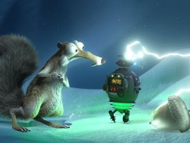 Chris Renaud and Mike Thurmeier co-directed No Time for Nuts, a new short featuring Scrat, the saber-toothed squirrel hero of Ice Age. All No Time for Nuts images © 2007 Fox. Courtesy of Twentieth Century Fox Home Ent.