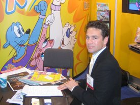 Enrique Pinerua, who promoted The Danger Rangers for Education Adventures on the exhibit floor, is pleased with the growth of Latin American channels.