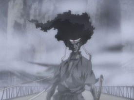 At an Afro Samurai panel, FUNimation's Scott McCarthy announced that 15 minutes of footage have been added to the miniseries DVD. Spike TV © 2006 Takashi Okazaki, Gonzo/Samurai Project. Licensed by FUNimation®.
