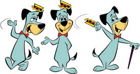 In the 1960s, celebrities appearing in animation largely disappeared from the scene. Hanna-Barbera created its own cartoon celebrities, such as Huckleberry Hound. © Cartoon Network.