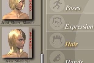 [Figure 4] Strand-based hair thumbnail.