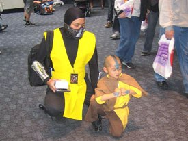 Avatar from The Last Airbender and Scorpion from Mortal Kombat come together at WonderCon.