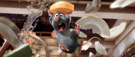 John Ratzenberger, Randy Newman and Brad Bird's voice acting were among fans' concerns at the Ratatouille panel. All Ratatouille images © Disney/Pixar.