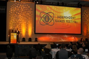 The Independent Games Festival awarded prizes for games created with more modest budgets, but received just as enthusiastically by the audience.