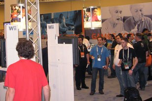 The Wii found many fans at the GDC. Photo credit: Christopher Harz.