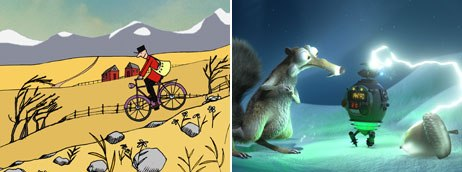 Magnolia Pictures releases DVDs in conjunction with its tour of Oscar-nominated shorts. This years DVD includes nominees, The Danish Poet (left) and No Time for Nuts. © Mikrofilm AS and NFB Canada 2006 (left); © 2007 Fox