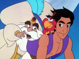 The home video business changed in 1994 when Disney released The Return of Jafar. Disney skipped the TV debut and went direct to the video market with this sequel to Aladdin. © Disney.