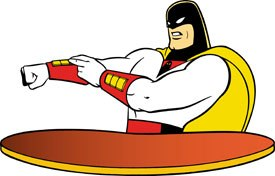 Joe Barbera's creations like Space Ghost live on in post-modern form on Adult Swim. © Cartoon Network.