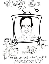 Daryl-Rhys Taylor sketches this tribute to Mr. B. Courtesy of Daryl-Rhys Taylor.