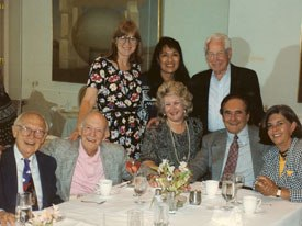Margaret Loesch remembers this unforgettable dinner with a who's who of animation legends. Courtesy of Margaret Loesch.
