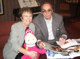 Linda Redondo visits with Mr. B soon after her retirement. Courtesy of Linda Redondo.