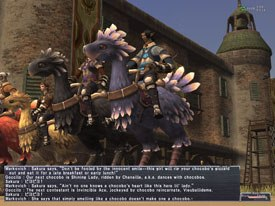 In Final Fantasy XI, a multiplayer online role-playing game capable of simultaneous multi-play across three different platforms, players embark on adventures through vast environments in Vana'diel, a world with over a hundred areas to explore.