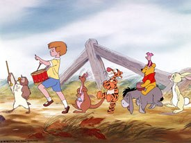 Walt Disney's original concept for a Winnie the Pooh feature became reality when the studio reassembled three shorts into The Many Adventures of Winnie the Pooh in 1977. It proved modestly successful at the box office.